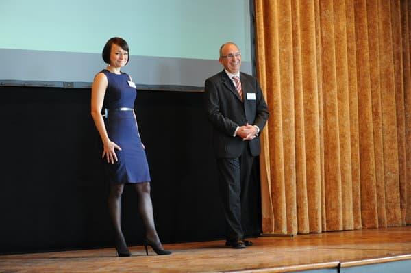 Kundentag 2014: Otto Vogel und die Moderatorin Anja Bonelli