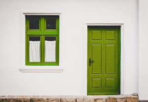Tür+Fenster grün