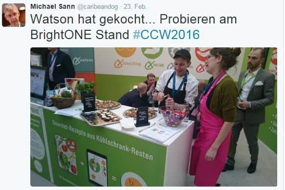 CCW 2016 brightONE - Chef Watson