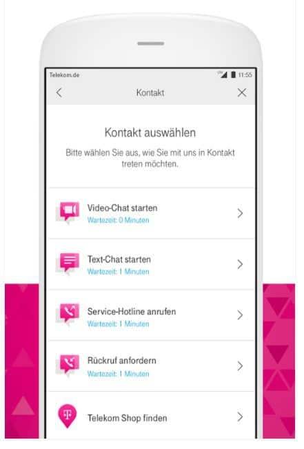 Rückruf Telekom App