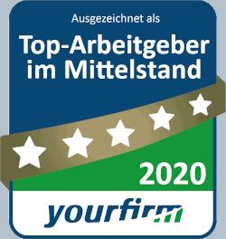 yourfirm Top-Arbeitgeber Mittelstand 2020 klein