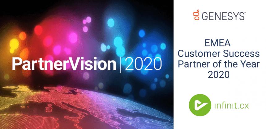 Genesys zeichnet infinit.cx für besondere Kundenerfolge im Jahr 2020 aus