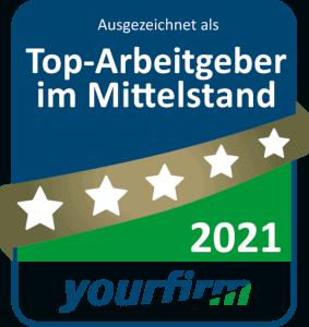yourfirm Top-Arbeitgeber Mittelstand 2021